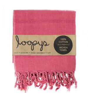 Crimson Pink Stonewash Turkish Towel