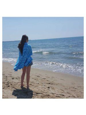 Bright Blue Aztec Turkish Towels