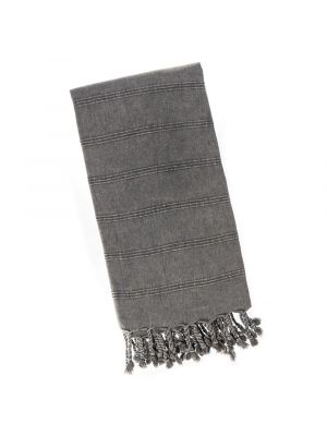 Charcoal Grey Stonewash Turkish Towel