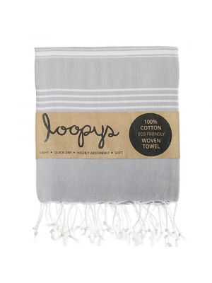 Loopys Cloud Grey Turkish Towel
