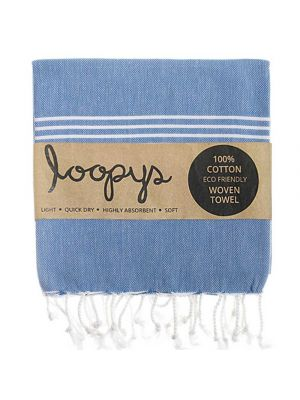 Denim Blue Turkish Beach Towel