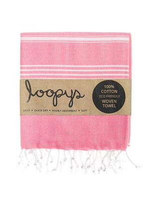 Loopys Fairy Floss Pink Turkish Towel