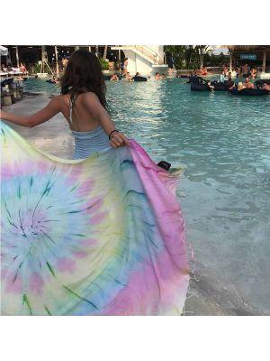Rainbow Tie Dye Turkish Beach Towel