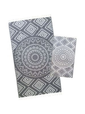Dolphin Grey Aztec Turkish Towel