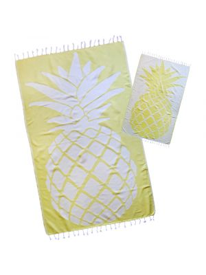 YELLOW PINEAPPLE TURKISH BEACH TOWEL
