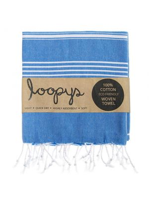 Loopys Blue Turkish Towel