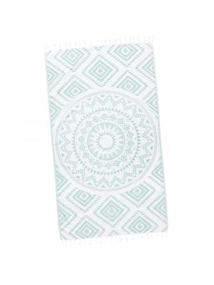 Mint Green Aztec Tribal Turkish Beach Towel