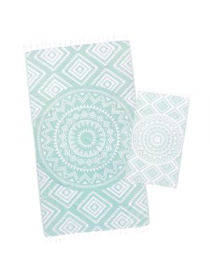 Mint Aztec Tribal Turkish Towel