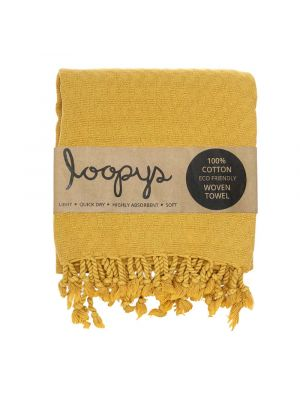 Mustard Yellow Honeycomb Turkish Towel
