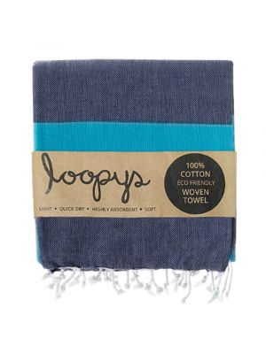 Loopys Navy and Blue Turkish Towel