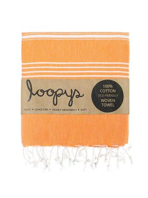 Loopys Orange Turkish Towel