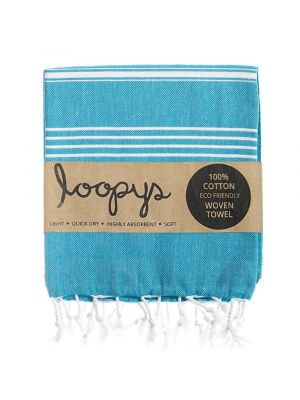 Loopys Petrol Blue Turkish Towel