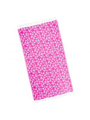 Fuscia Pink Leopard Turkish Beach Towel