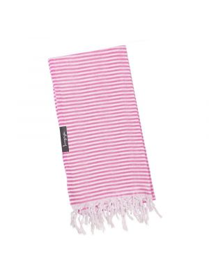 Bubblegum Pink and White Stripe Super Light Turkish Towel