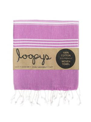 Loopys Purple Turkish Towel