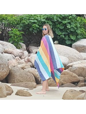 Rainbow Stripe Turkish Beach Towel