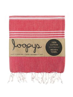Loopys Red Turkish Towel