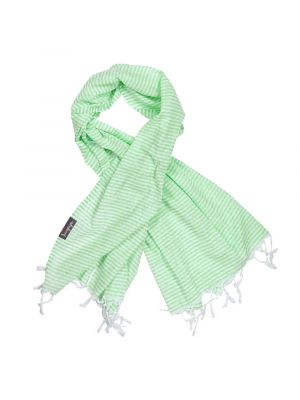 Green and White striped Turkish Towels