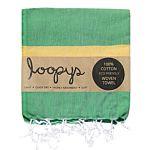 Loopys Green and Yellow stripe Turkish Towel