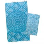 Caribbean Blue Aztec Tribal Turkish Towel