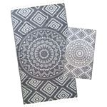 Dolphin Grey Aztec Tribal Turkish Towel