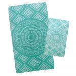 Turquoise Aztec Tribal Turkish Towel