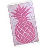 Bubblegum Pink Pineapple Design Turkish Towel