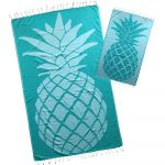 TURQUOISE PINEAPPLE TURKISH BEACH TOWEL