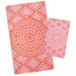 Coral Aztec Tribal Turkish Towel