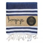 Navy and White stripe Turkish Towel