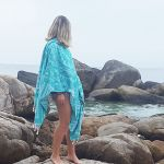 Turquoise Aztec Tribal Turkish Towel