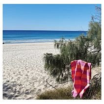 Pink Lemonade/ Sherbet Candy Stripe Turkish Towel