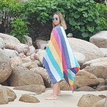 Rainbow Stripe Turkish Beach Towel