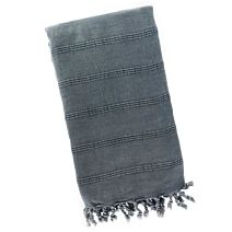 Steel Blue Stonewash Turkish Towel