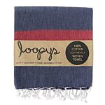 Navy/ Scarlet Candy Stripe Turkish Towel