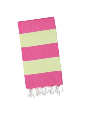 Pink Lemonade/ Lime Candy Stripe Turkish Towel