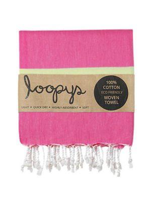 Pink Lemonade/ Lime Candy Stripe Turkish Towel