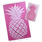 Bubblegum Pink Pineapple Design Turkish Towel