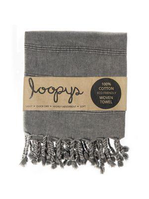 Charcoal Grey Stonewash Turkish Towel