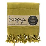 Olive Lime Green Stonewash Turkish Towel