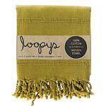 Olive Lime Green Stonewash Turkish Towel