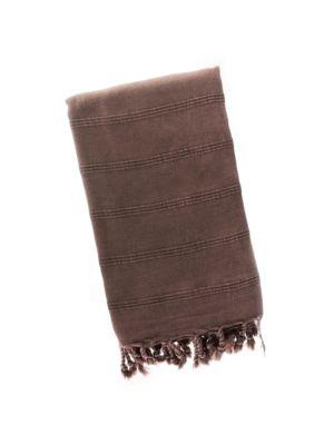 Mushroom Mocha Stonewash Turkish Towel