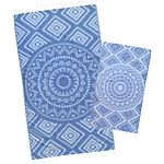 Denim Blue Aztec Tribal Turkish Towel