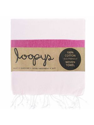 Blush Pink / Pink Lemonade Candy Stripe Turkish Towel