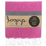 Pink Lemonade / Dolphin Grey Candy Stripe Turkish Towel