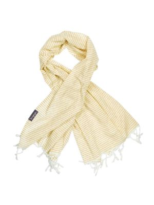 Tuscan Yellow and White Stripe Super Light Turkish Towel